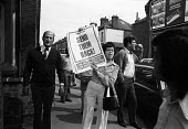 Fascist on the streets, Leicester, 1974 protest against the Asian workers on strike at Imperial Typewriters. NF shouting abuse - John Sturrock - 29-04-1974