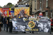 Orgreave 35th Anniversary Rally, Orgreave, Sheffield, South Yorkshire - John Harris - 2010s,2019,activist,activists,against,Anniversary,banner,banners,Battle of Orgreave,CAMPAIGNING,CAMPAIGNS,COMMEMORATE,COMMEMORATING,commemoration,COMMEMORATIONS,commemorative,DEMONSTRATING,Demonstrati