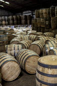 Louisville, Kentucky, USA: Kelvin Cooperage oak barrels for aging bourbon and wine - Jim West - 2010s,2019,american,americans,barrel,barrel maker,barrel making,barrels,bourbon,capitalism,cask,casks,cooper,cooperage,coopers,EBF,Economic,Economy,FACTORIES,factory,Industries,industry,Kelvin Coopera