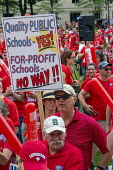 Lansing, Michigan USA: Teachers rally for education funding. NEA and the AFT trades union protest - Jim West - 18-06-2019