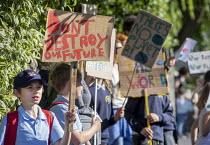 School children from Sefton Park School protest about climate change, Bristol. - Paul Box - 2010s,2019,activist,activists,against,anti,boy,boys,CAMPAIGN,campaigner,campaigners,CAMPAIGNING,CAMPAIGNS,child,CHILDHOOD,children,Climate Change,DEMONSTRATING,Demonstration,DEMONSTRATIONS,environment