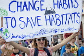 School students strike against climate change and airport expansion, Bristol. Change Habits To Save Habitats individual solutions to climate change - Paul Box - 21-06-2019
