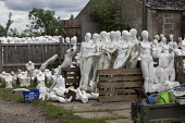 Dollywood mannequin recycling centre. Mannakin refurbishes the mannequins for hire and resale so they do not go to landfill as waste, nr Grantham. The centre has around 10,000 dummies - John Harris - 20-06-2019