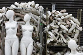 Dollywood mannequin recycling centre. Mannakin refurbishes the mannequins for hire and resale so they do not go to landfill as waste, nr Grantham. The centre has around 10,000 dummies - John Harris - 2010s,2019,bodies,body,council services,council services,dummies,dummy,EBF,Economic,Economy,ENI,environment,Environmental Issues,FEMALE,figure,figures,landfill,landfills,Lincolnshire,local authority,m