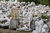 Dollywood mannequin recycling centre. Mannakin refurbishes the mannequins for hire and resale so they do not go to landfill as waste, nr Grantham. The centre has around 10,000 dummies - John Harris - 2010s,2019,bodies,body,child,CHILDHOOD,children,council services,council services,dummies,dummy,EBF,Economic,Economy,ENI,environment,Environmental Issues,FEMALE,figure,figures,juvenile,juveniles,kid,k