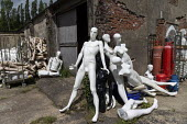 Dollywood mannequin recycling centre. Mannakin refurbishes the mannequins for hire and resale so they do not go to landfill as waste, nr Grantham. The centre has around 10,000 dummies - John Harris - 2010s,2019,bodies,body,council services,council services,dummies,dummy,EBF,Economic,Economy,ENI,environment,Environmental Issues,figure,figures,landfill,landfills,Lincolnshire,local authority,maintain