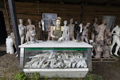 Dollywood mannequin recycling centre. The Finger bar. Fire damaged figures. Mannakin refurbishes the mannequins for hire and resale so they do not go to landfill as waste, nr Grantham. The centre has... - John Harris - 20-06-2019