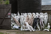 Dollywood mannequin recycling centre. Fire damaged figures. Mannakin refurbishes the mannequins for hire and resale so they do not go to landfill as waste, nr Grantham. The centre has around 10,000 du... - John Harris - 2010s,2019,accident,accidental,accidents,bodies,body,burnt out,council services,council services,damage,damaged,destroyed,destruction,DIA,dummies,dummy,EBF,Economic,Economy,ENI,environment,Environment