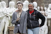 Roz Edwards of Mannakin. Dollywood mannequin recycling centre. Mannakin refurbishes the mannequins for hire and resale so they do not go to landfill as waste, nr Grantham. The centre has around 10,000... - John Harris - 20-06-2019