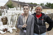 Roz Edwards of Mannakin. Dollywood mannequin recycling centre. Mannakin refurbishes the mannequins for hire and resale so they do not go to landfill as waste, nr Grantham. The centre has around 10,000... - John Harris - 2010s,2019,bodies,body,council services,council services,dummies,dummy,EBF,Economic,Economy,ENI,environment,Environmental Issues,FEMALE,figure,figures,landfill,landfills,Lincolnshire,local authority,m