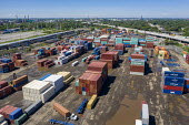 Detroit, Michigan, USA: Shipping containers, terminal and container yard, ContainerPort Group - Jim West - 21-06-2019