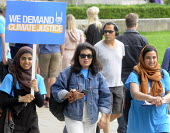 The Time Is Now - Christian Aid protest and lobby of Parliament calling for urgent action on climate change. Young Muslem women join in the protest march to ParliamentThe Time Is Now - Christian Aid p... - Stefano Cagnoni - 26-06-2019