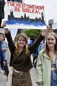 The Time Is Now - Christian Aid protest and lobby of Parliament calling for urgent action on climate change. Young women join the march to ParliamentThe Time Is Now - Christian Aid protest and lobby o... - Stefano Cagnoni - 26-06-2019
