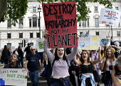 The Time Is Now - Christian Aid protest and lobby of Parliament calling for urgent action on climate change. Secondary schoolgirls given time off school to join the march through WhitehallThe Time Is... - Stefano Cagnoni - 26-06-2019