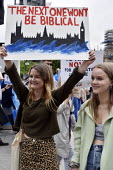 The Time Is Now - Christian Aid protest and lobby of Parliament calling for urgent action on climate change. Young women join the march through WhitehallThe Time Is Now - Christian Aid protest and lob... - Stefano Cagnoni - 26-06-2019