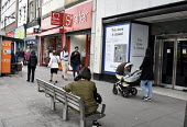 High Street store closures. Marks and Spencers store on Holloway Road north London closed whilst neighbouring Charity shops Shelter and British Heart Foundation remain open.High Street store closures.... - Stefano Cagnoni - 2010s,2019,adult,adults,BHF,bought,British Heart Foundation,business,buy,buyer,buyers,buying,charitable,charity,charity shop,charity shops,cities,City,close,closed,closing,closure,closures,commodities