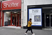 High Street store closures. Marks and Spencers store on Holloway Road north London closed whilst neighbouring Charity shop Shelter remains open.High Street store closures. Marks and Spencers store on... - Stefano Cagnoni - 19-06-2019