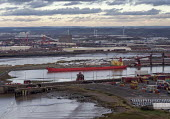 Royal Portbury Dock, Avonmouth, automotive import and export of Mitsubishi and Toyota vehicles - Paul Box - 23-01-2019