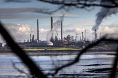 Valero Oil Refinery, Pembroke - Paul Box - 2010s,2019,Air Pollution,C02 Emissions,chimney,chimneys,coast,coastal,coasts,EBF,Economic,Economy,ENI,environment,environmental degradation,Environmental Issues,Milford Haven,nature,NOX,Oil,Oil Indust