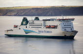Pembroke to Rosslare Ferry, Milford Haven, Pembrokeshire. Irish Ferries Isle of Rushmore - Paul Box - 2010s,2019,boat,boats,coast,coastal,coasts,dock,docks,dockside,EBF,Economic,Economy,ferries,ferry,HARBOUR,Irish,marine,maritime,maritime industry,Milford Haven,nautical,Passenger Ferry,PORTS,quay,QUAY
