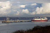 Gas Tanker, South Hook LNG, Milford Haven, Pembrokeshire - Paul Box - 03-05-2017