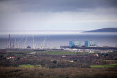 Hinkley Point C Nuclear power station under construction, Somerset - Paul Box - 2010s,2019,atomic,coast,coastal,coasts,Construction Industry,EBF,Economic,Economy,Hinkley,Nuclear,nuclear power station,OCEAN,reactor,REACTORS,sea,shoreline,Somerset,station,STATIONS,WATER