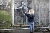 Banksy Graffiti on a garage, Port Talbot, Wales - Paul Box - 08-02-2019