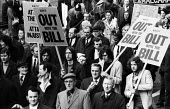 Trade union protest against the Industrial Relations Act London 1970 - Chris Davies - 1970,1970s,activist,activists,against,anti trade union,anti union legislation,campaign,campaigning,CAMPAIGNS,DEMONSTRATING,demonstration,Industrial Relations Act,Industrial Relations Act 1971,Industri