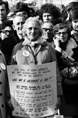 Trade union protest against the Industrial Relations Act London 1970 - Chris Davies - 1970,1970s,activist,activists,against,anti trade union,campaign,campaigning,CAMPAIGNS,DEMONSTRATING,demonstration,FEMALE,Industrial Relations Act,Industrial Relations Bill,London,member,member members