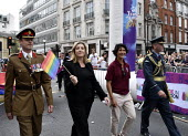 Pride in London 2019. Penny Mordaunt MP and UK Armed Forces on the parade through LondonPride in London 2019. Penny Mordaunt MP and UK Armed Forces on the parade through LondonPride in London 2019. Pe... - Stefano Cagnoni - 06-07-2019