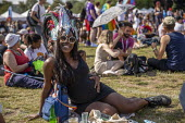 Pregnant woman, UK Black Pride, Haggerston Park, East London - Jess Hurd - 07-07-2019