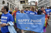 Pride in London 2019. Conservative Party supporters parade through LondonPride in London 2019. Conservative Party supporters parade through LondonPride in London 2019. Conservative Party supporters pa... - Stefano Cagnoni - 06-07-2019