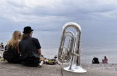 Sidmouth Folk Week. An annual gathering in Sidmouth since 1955 of British folk music and dance groups who perform their song and dance routines in the bars and on the streets of the small seaside town... - Stefano Cagnoni - 2010s,2018,adult,adults,brass,break,calm,COAST,couple,COUPLES,eccentric,eccentricity,Festival,festivals,Folk,folk music,holiday,holiday makers,holidays,leisure,LFL,LIFE,lifestyle,melody,music,MUSICAL,