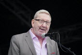 Len McCluskey, Unite, 2019 Durham Miners Gala - Mark Pinder - 2010s,2019,DMA,Durham Miners Gala,Gen Sec,Len McCluskey,male,man,member,member members,members,men,MINER,Miners,MINER'S,NUM,people,person,persons,SPEAKER,SPEAKERS,speaking,SPEECH,Trade Union,Trade Uni