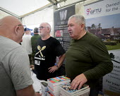 2019 Durham Miners Gala, Ian Richards GFTU stall - Mark Pinder - 2010s,2019,DMA,Durham Miners Gala,GFTU,male,man,member,member members,members,men,MINER,Miners,MINER'S,NUM,people,person,persons,Trade Union,Trade Union,Trade Unions,Trades Union,Trades Union,Trades u