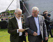 Jeremy Corbyn with Ian Lavery, 2019 Durham Miners Gala - Mark Pinder - 2010s,2019,DMA,Durham Miners Gala,Ian Lavery,Jeremy Corbyn,Labour Party,male,man,member,member members,members,men,MINER,Miners,MINER'S,MP,MPs,NUM,people,person,persons,POL,political,politician,politi