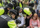 Extinction Rebellion protest, Bristol - Paul Box - 2010s,2019,activist,activists,against,arrest,arrested,arresting,CAMPAIGNING,CAMPAIGNS,CLJ,DEMONSTRATING,Demonstration,environment,environmental,Extinction Rebellion,FEMALE,force,Nonviolent Direct Acti