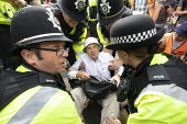 Extinction Rebellion protest, Bristol - Paul Box - 2010s,2019,activist,activists,against,arrest,arrested,arresting,CAMPAIGNING,CAMPAIGNS,CLJ,DEMONSTRATING,Demonstration,environment,environmental,Extinction Rebellion,FEMALE,force,Legal Observer,Nonviol