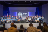 Michigan USA, Leaders of Fiat Chrysler and the UAW ceremonial opening of negotiations for the 2019 collective bargaining contract - Jim West - 16-07-2019