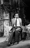 Jamaican Playwright Barry Reckord 1958 on the set of his very first play Flesh To A Tiger, The Royal Court Theatre London. Directed by Tony Richardson. Reckord was one of the first Caribbean writers t... - Alan Vines - 22-05-1958