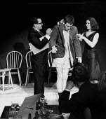 The Establishment Club London 1961. Jeremy Geidt and Hazel Woodvine on either side of a third actor performing a comedy sketch at The Establishment Club London 1961. The Establishment Club was cteated... - Romano Cagnoni - 1960s,1961,3rd,ACE,ACTING,actor,ACTORS,Arts,biting,cities,City,Club,clubs,comedian,comedians,comedy,culture,deference,ENTERTAINER,ENTERTAINERS,entertainment,FEMALE,FUNNY,Greek,Hazel Woodvine,Humor,HUM