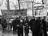 International Womens Day demonstration 1974 - Chris Davies - 1970s,1974,activist,activists,against,banner,banners,CAMPAIGNING,CAMPAIGNS,cities,City,coventry,DEMONSTRATING,Demonstration,equal rights,equality,FEMALE,feminism,feminist,feminists,International Women
