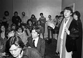 Christopher Hitchens speaking 1979 NUJ Meeting debating sexist imagery of 'Page 3 girls' in The MIner, the paper of the NUM - Nick Oakes - 1970s,1979,bigotry,Christopher Hitchens,debate,debating,DISCRIMINATION,equal,equal rights,equality,FEMALE,feminism,feminist,feminists,inequality,journalism,journalist,journalists,male,Male Chauvinism,