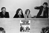 Maurice Jones Editor of The Miner speaking 1979 NUJ Meeting debating sexist imagery of 'Page 3 girls' in The MIner, the paper of the NUM - Nick Oakes - 1970s,1979,Anna Coote,Arthur Scargill,bigotry,debate,debating,DISCRIMINATION,equal,equal rights,equality,FEMALE,feminism,feminist,feminists,inequality,journalism,journalist,journalists,male,Male Chauv