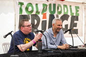 Kevin McGuire in conversation with Matt Collins about fighting racism and fascism, Tolpuddle Martyrs Festival, Dorset. - Jess Hurd - 21-07-2019