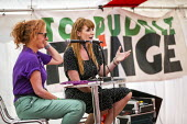 Angela Rayner MP in conversation with Joanne Kaye, UNISON, Tolpuddle Martyrs Festival, Dorset. - Jess Hurd - 20-07-2019