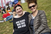 More Blacks, More Dogs, More Irish t-shirt, Tolpuddle Martyrs Festival, Dorset. - Jess Hurd - 2010s,2019,Anti Racism,anti racist,Dorset,FEMALE,Festival,FESTIVALS,Irish,Jew,Jewish,Jewish Socialists' Group,Jews,Judaism,member,member members,members,monotheistic,More Blacks,More Dogs,More Irish,P