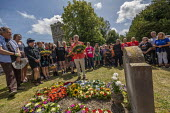 Jeremy Corbyn wreath laying, Tolpuddle Martyrs Festival, Dorset. - Jess Hurd - 2010s,2019,cemeteries,cemetery,dead,death,deaths,died,Dorset,Festival,FESTIVALS,floral tribute,floral tributes,flower,flowering,flowers,grave,graves,gravestone,gravestones,graveyard,graveyards,Jeremy