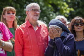 Jeremy Corbyn with supportive, emotional nun, Tolpuddle Martyrs Festival, Dorset. - Jess Hurd - 2010s,2019,Angela Rayner,Belief,Catholic,catholicism,Catholics,christian,christianity,christians,conviction,Dorset,emotion,emotional,emotions,faith,FEMALE,Festival,FESTIVALS,GOD,Jeremy Corbyn,Labour P