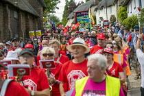 Jeremy Corbyn leads Tolpuddle Martyrs Festival procession, Dorset. - Jess Hurd - 21-07-2019